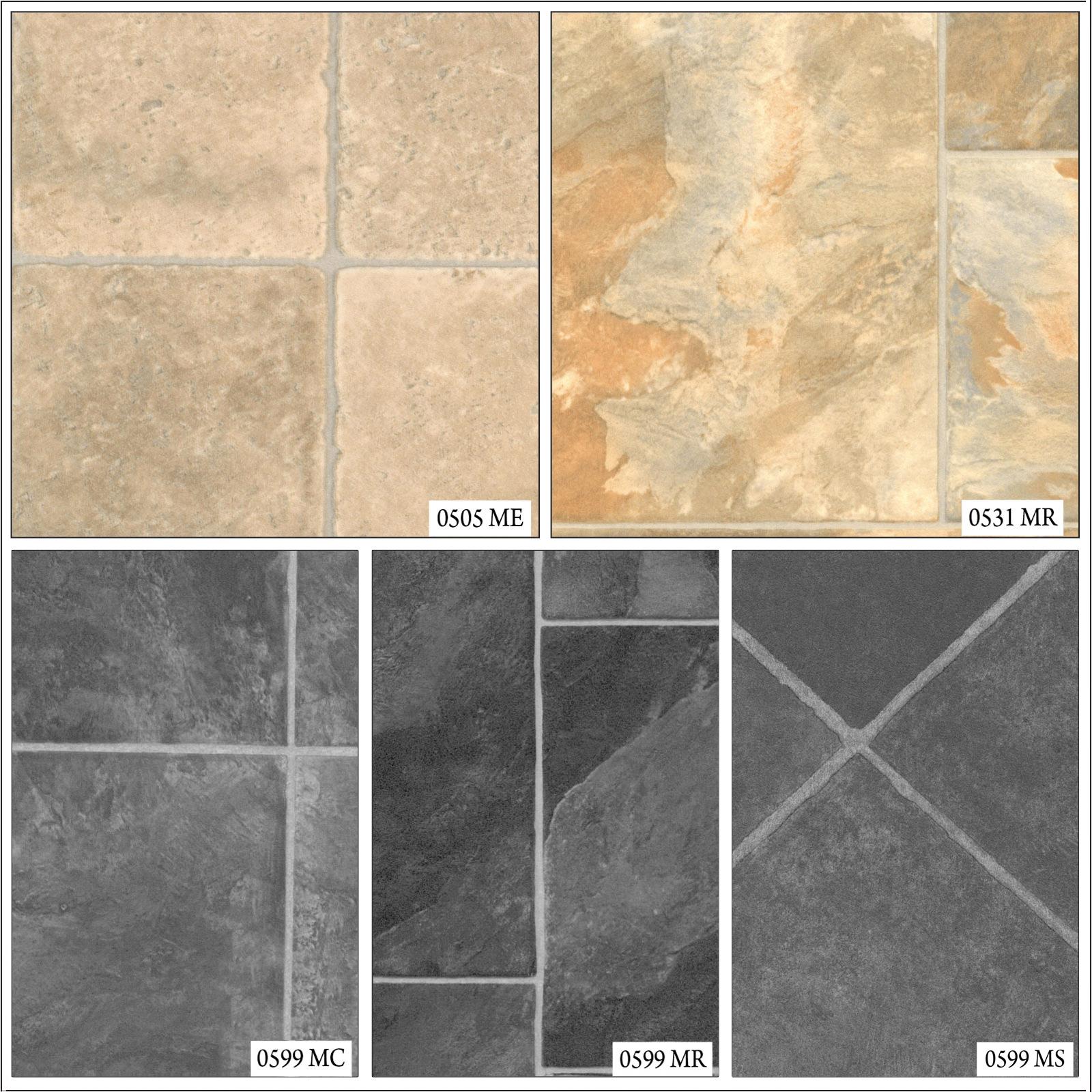 Stone tile effect anti slip lino home kitchen bathroom for Lino flooring tile effect