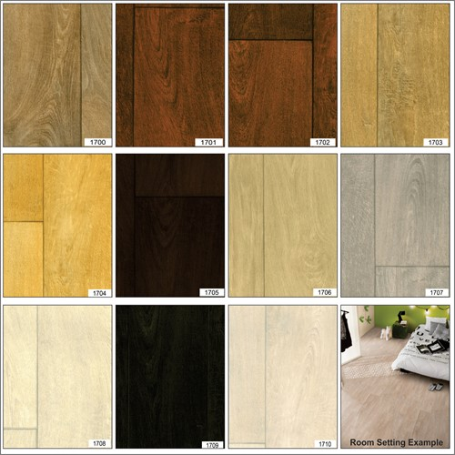 wood effect anti slip heavy duty vinyl flooring home