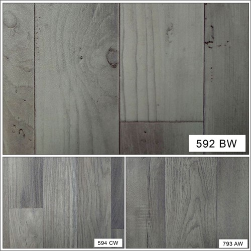 Grey wood effect non slip high quality modern home office for Lino flooring wood effect